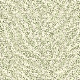 Zebra Spot Large (Linen Union) - 8 - Green linen fabric with a zebra stripe in two different but both very pale shades