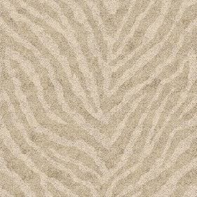 Zebra Spot Small (Linen Union) - 2 - Linen fabric featuring a design resembling zebra stripes in two shades of very light brown