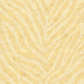 Zebra Spot Small (Cotton) - 3 - Plain yellow and cream coloured stripes arranged in an animal stripe pattern on cotton fabric
