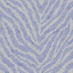 Zebra Spot Small (Cotton) - 6 - Bright light blue-purple animal stripes on a pale light grey-purple cotton fabric background