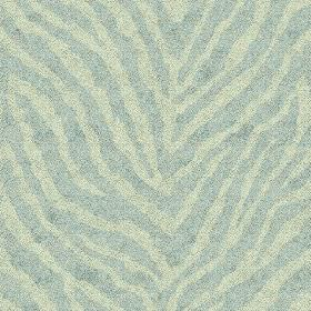 Zebra Spot Small (Linen Union) - 7 - Very pale turquoise animal stripes alongside pale green stripes on a linen fabric