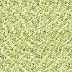 Zebra Spot Large (Linen Union) - 1 - Linen fabric with an animal stripe design in bright, lime green, with pale green