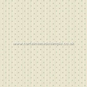 Sahi (Linen Union) - 3 - Linen fabric in cream, with grey-green dots and threads running down it