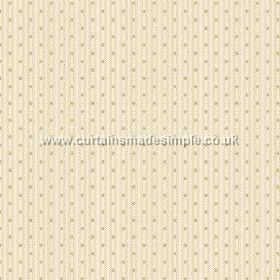 Sahi (Cotton) - 4 - Cotton fabric with pale stripes and light green dots running vertically down it
