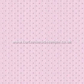 Sahi (Linen Union) - 6 - Light pink-purple linen fabric with vertical stripes in a slightly darker shade, and neatly arranged dots