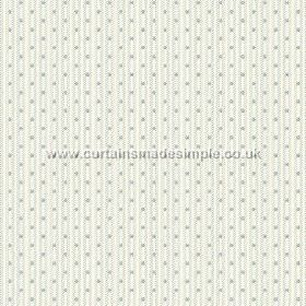 Sahi (Cotton) - 7 - Pale stripes and blue-grey dots laid out vertically on white cotton fabric