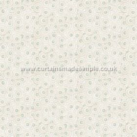 Tounga (Cotton) - 5 - White, grey and duck egg blue circle print cotton fabric