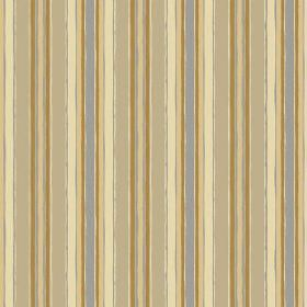 Bouquet Stripe (Cotton) - 1 - Cotton fabric with rough stripes in shades of cream, gold, beige and grey
