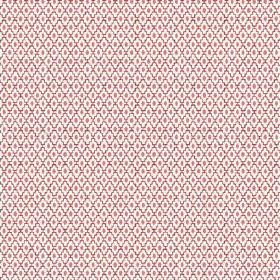 Bouquet Spot (Cotton) - 8 - A dark purple pattern of stepped diagonal lines and ovals printed onto an off-white cotton fabric background