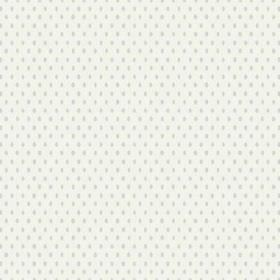 Bouquet Spot (Linen Union) - 10 - White linen fabric covered in duck egg blue ovals and very subtle pale grey diagonal lines