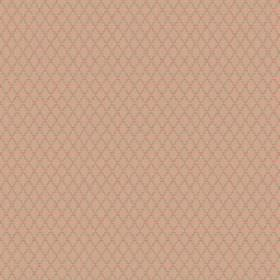 Bouquet Spot (Cotton) - 1 - Caramel coloured cotton fabric with thin brown diagonal lines running in both directions