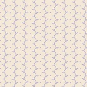 Casella Reverse (Linen Union) - 3 - Off-white fabric in linen, with a pale lilac pattern of dots and wavy lines