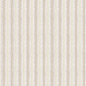 Guincho (Linen Union) - 1 - Patterned stripes in two pale shades of grey printed on white linen fabric