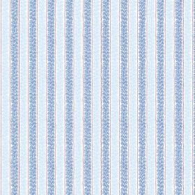 Guincho (Linen Union) - 2 - Linen fabric patterned with even, patterned stripes of ice blue and sky blue
