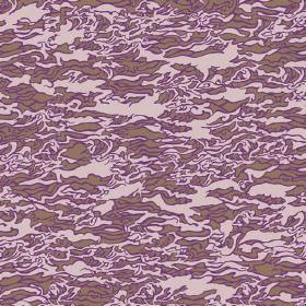 Lagoa (Cotton) - 4 - Pink, purple and brown coloured camo effect patterned cotton fabric