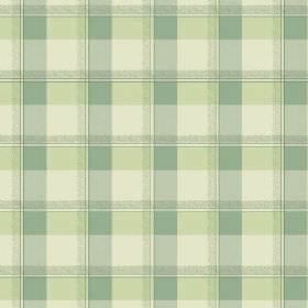 Nouvelles Check (Cotton) - 4 - Several different shades of green making up an unusual green checked cotton fabric