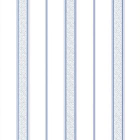 Nouvelles Stripe (Linen Union) - 1 - Linen fabric in a bright white colour, with occasional thin stripes in blue