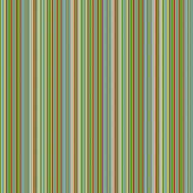 Dharamsala Pinstripe (Cotton) - 2 - Narrow stripes in shades of bright green, blue and cream, on cotton fabric
