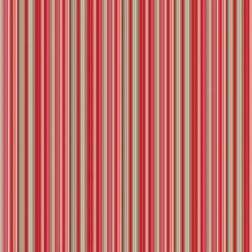 Dharamsala Pinstripe (Cotton) - 3 - Cotton fabric striped with narrow bands of red, grey, cream and pink