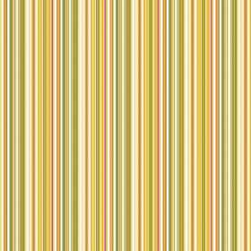 Dharamsala Pinstripe (Linen Union) - 4 - Yellow, green, white and gold striped linen fabric