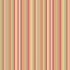 Simla Stripe (Linen Union) - 4 - Narrow stripes of orange, beige, pale yellow and salmon pink covering this linen fabric