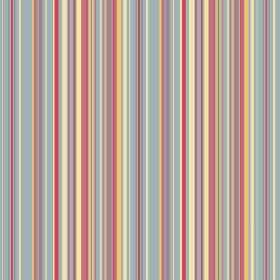 Simla Stripe (Linen Union) - 5 - Narrow multicoloured pastel stripes running vertically down this linen fabric