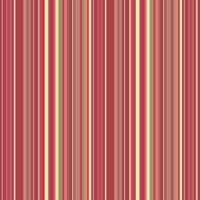 Simla Stripe (Linen Union) - 6 - Linen fabric covered in narrow, vertical stripes of dark red, orange, green and cream
