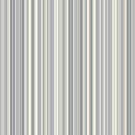 Florece Stripe (Cotton) - 1 - Cotton fabric covered in narrow stripes in several different shades of light blue, white and grey