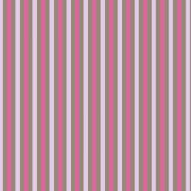Tilly Stripe (Linen Union) - 1 - Linen fabric with even stripes of grey, light pink and bright pink