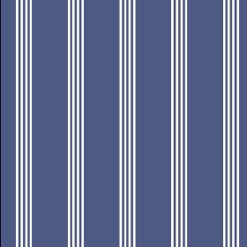Tretower (Cotton) - 1 - Navy blue cotton fabric featuring a series of thin white stripes