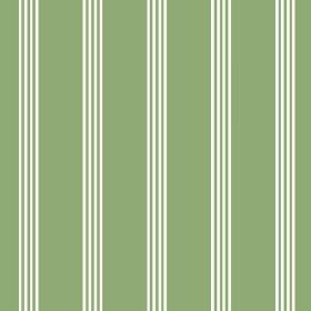 Tretower (Cotton) - 6 - Fabric made from grass green coloured cotton and printed with narrow white stripes