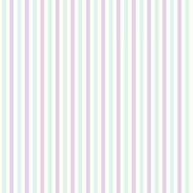 Tilly Stripe (Cotton) - 2 - Cotton fabric with equal, alternating stripes in white, ice blue and pale purple