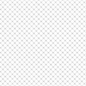 Toile Lattice (Linen Union) - 10 - A mesh-like grid of light blue, with tiny blue crosses, printed on bright white linen fabric