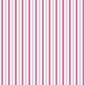 Tilly Stripe (Cotton) - 3 - White cotton fabric striped with even bands of pale purple and bright pink