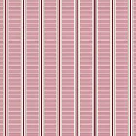 Spa Stripe (Cotton) - 2 - Purple, white and grey narrow stripes between horizontally striped pink bands, on cotton fabric