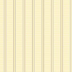 Spa Stripe (Cotton) - 3 - Horizontally and vertically striped pale yellow cotton fabric