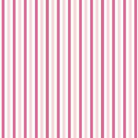 Tilly Stripe (Cotton) - 5 - Pale pink, dark pink and white striped cotton fabric