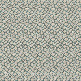 Pave (Cotton) - 1 - Small areas the colour of stone printed in random shapes to cover a dark blue-turquoise cotton fabric