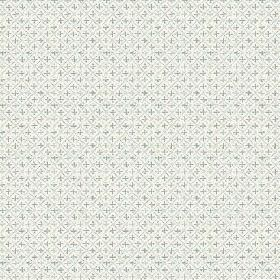 Colonia (Linen Union) - 2 - A grey-blue grid with matching crosses printed on a white linen fabric background