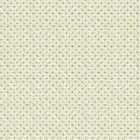 Colonia (Linen Union) - 3 - Fabric made from very light green linen and decorated with a subtle green grid pattern and tiny green crosses