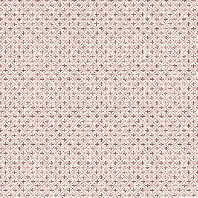 Colonia (Linen Union) - 4 - Plain linen fabric covered in a grid and cross pattern in dark purple-pink shades