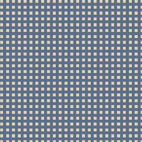 Lilies Check (Linen Union) - 2 - Tiny, simple navy blue checks printed on white linen fabric