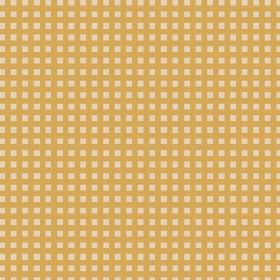 Lilies Check (Linen Union) - 7 - A simple check print linen fabric in the two colours of honey and cream