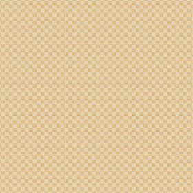 Berlingot (Linen Union) - 7 - A checkerboard pattern made up of tiny cream and gold coloured squares on linen fabric