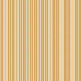Lilies Stripe (Cotton) - 7 - Cotton fabric covered in vertical yellow, gold and cream coloured stripes