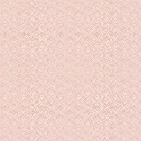Llyswen (Cotton) - 2 - Subtly patterned cotton fabric with cream circles on a pale pink background