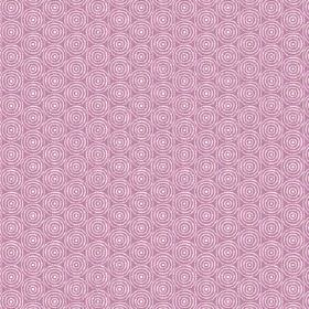 Llyswen (Linen Union) - 7 - Linen fabric in a pink-purple colour, printed with a pattern of repeated, concentric white circles