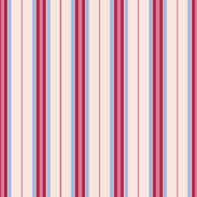 Rhulen (Cotton) - 3 - Light pink, rose pink, mauve and deep red striped cotton fabric