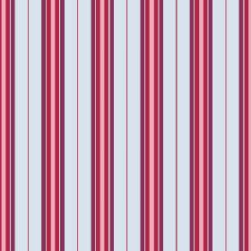 Rhulen (Linen Union) - 6 - Bands of ice blue, purple, rose pink and pink-red evenly spaced across this linen fabric