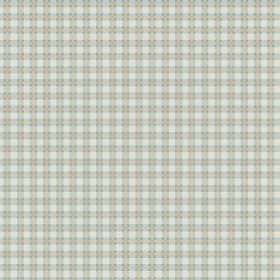 Fiorentina Check (Linen Union) - 2 - Linen fabric with a checked pattern in pale duck egg blue-green and grey